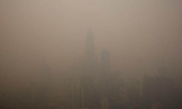 A hazy view of KLCC
