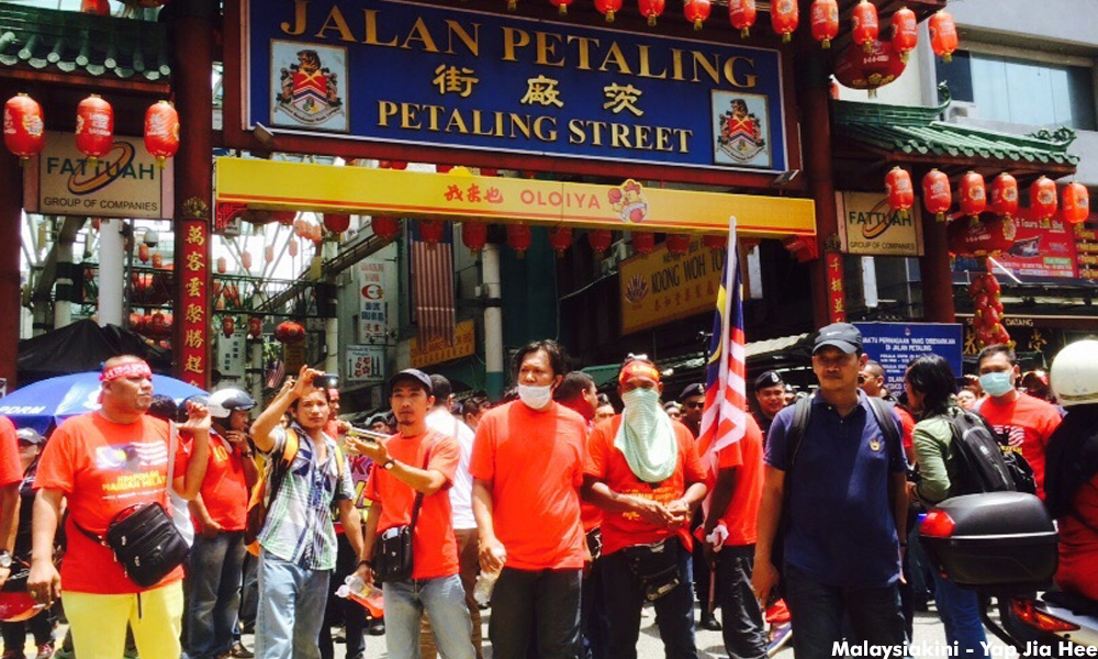 Protesters adamant on going through Petaling Street