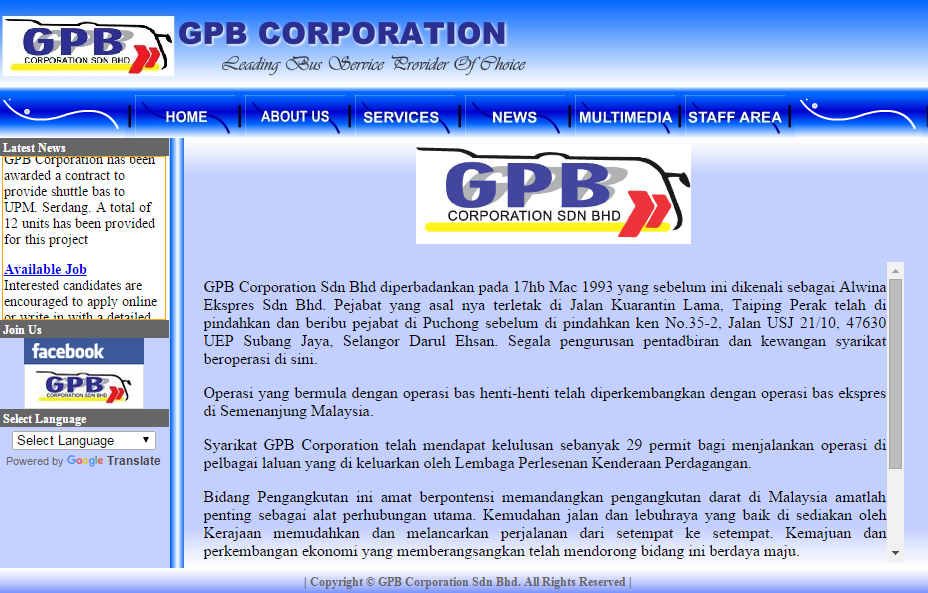 GPB Corporation's official site