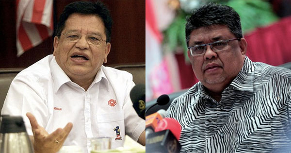 Tengku Adnan (left) and Abdul Rauf (right).
