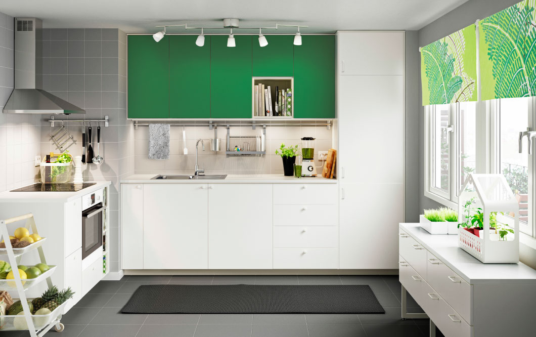 Add a pop of vibrant hue and patterns for a modern, fun kitchen.