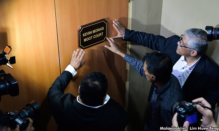 "The moot court, yesterday renamed it to ""Kevin Morais Moot Court' in memory of the brutally murdered MACC official."