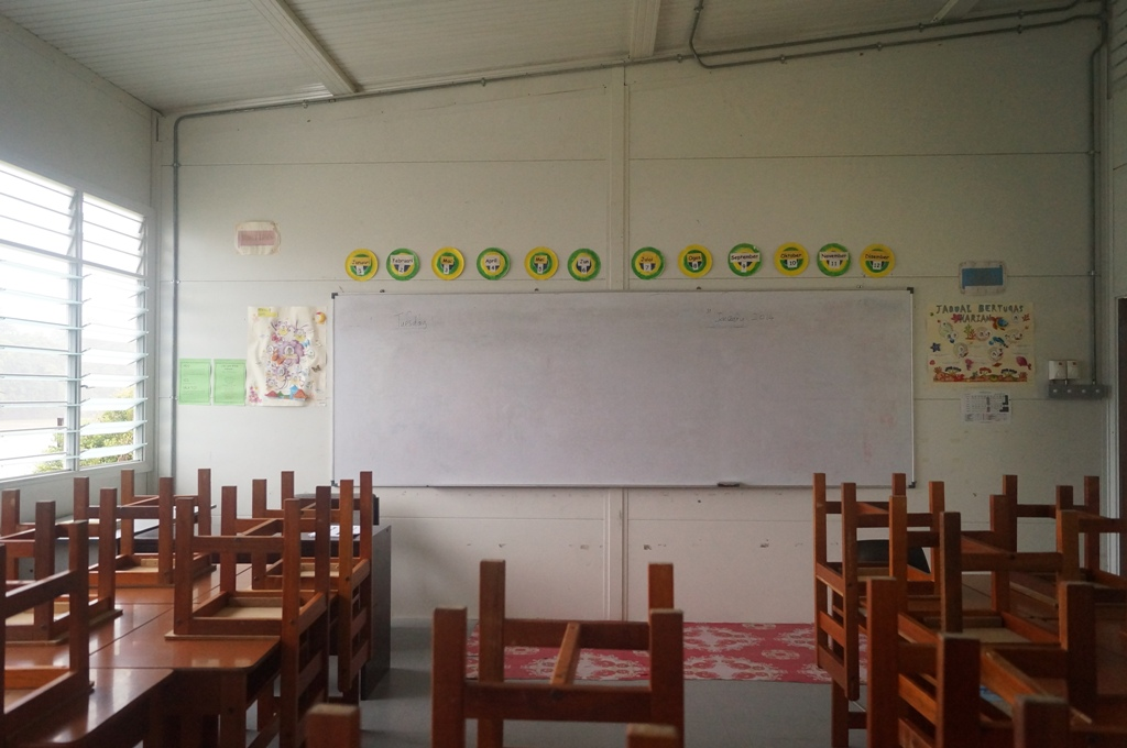 An image of one of the new classrooms at SK Airport