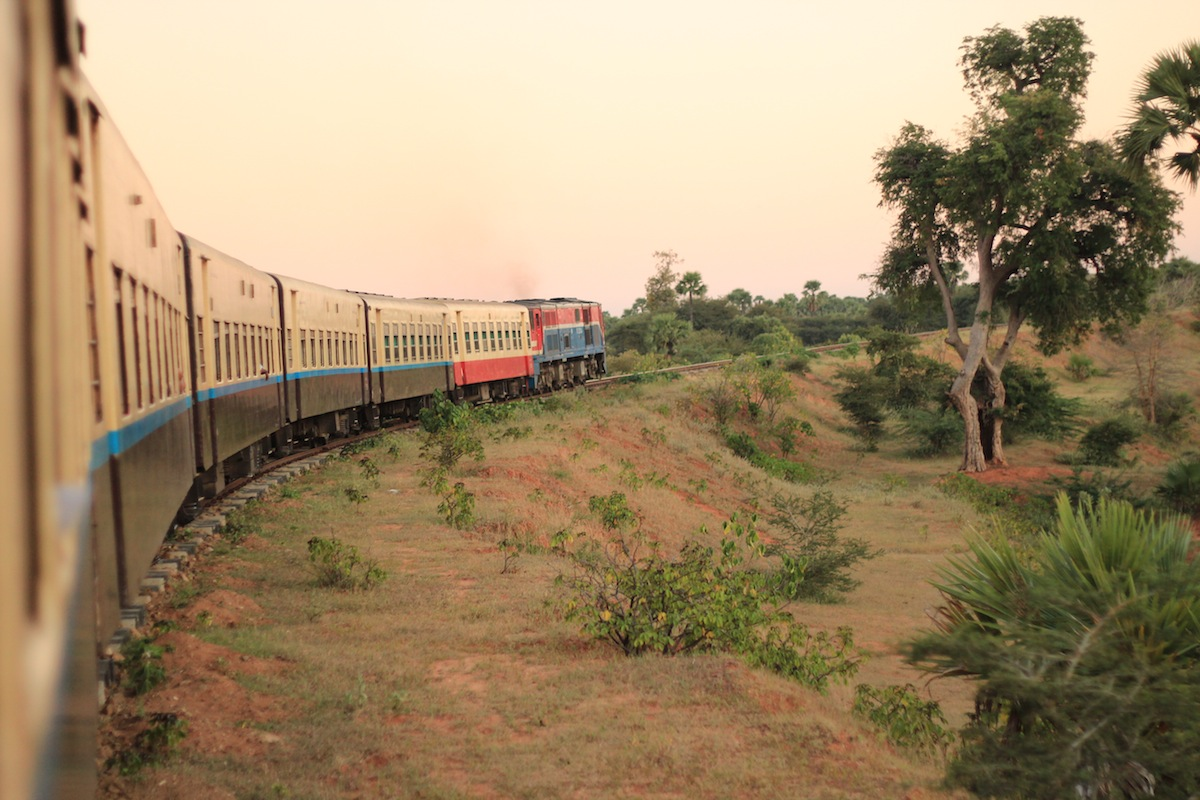 An overnight train journey from Bagan to Yangon, Myanmar, which I didn't get much sleep on