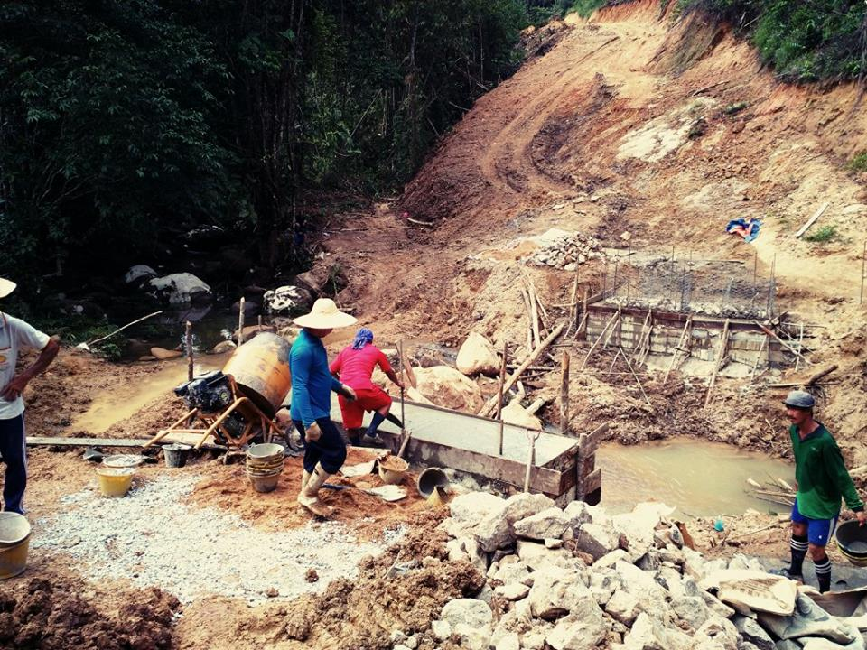 Work underway for roads to be built, connecting a few villages in Kuching, Sarawak