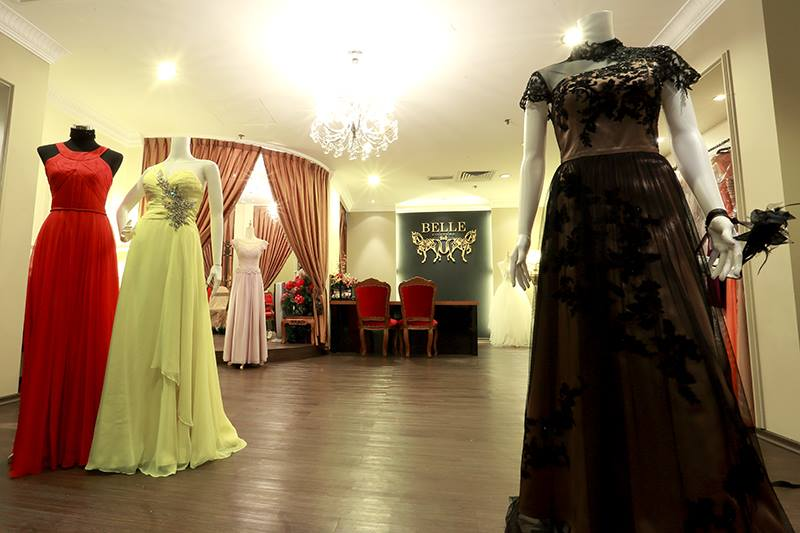 renting evening gowns