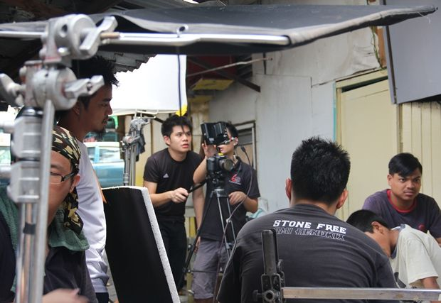 Paul Gan shooting a film