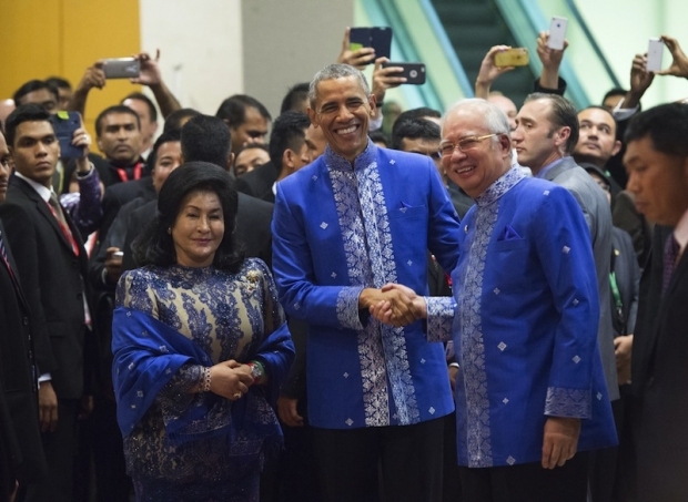 US President Barack Obama with PM Najib and wife, during his recent visit to Malaysia