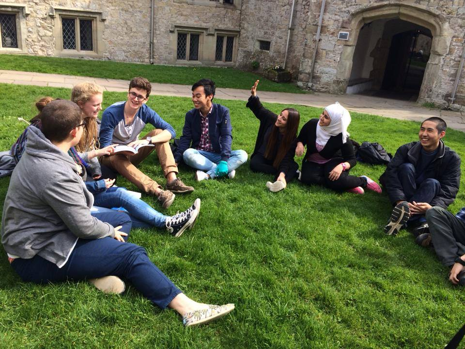 Jurleo from MRSM Kuching having a Global Politics lesson at the Atlantic College castle.
