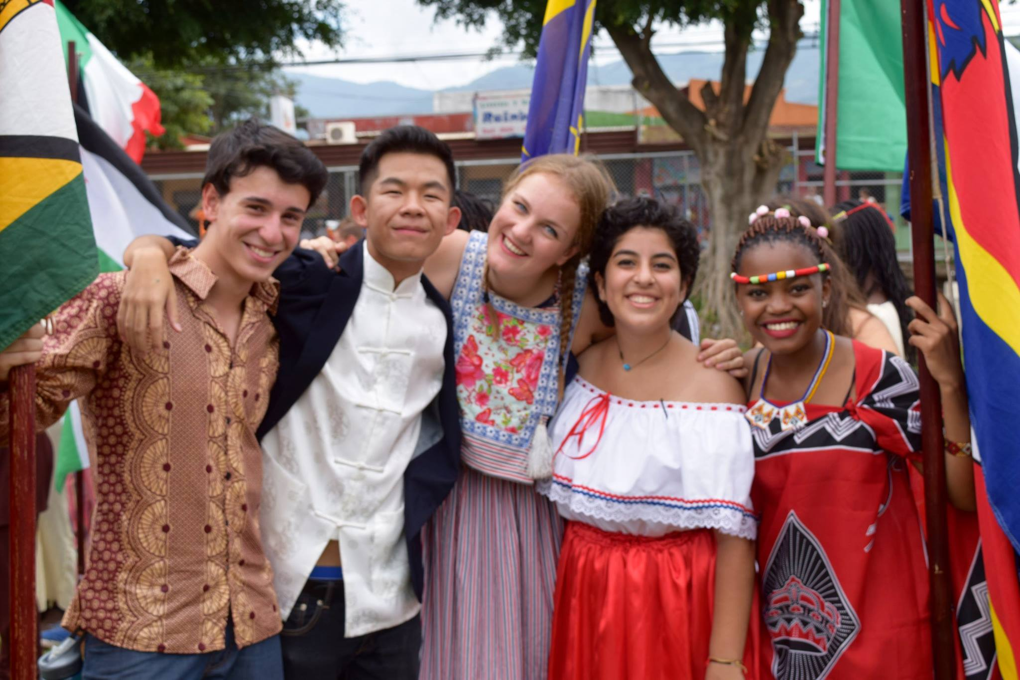Jason celebrating Costa Rica Independence Day with friends from Zimbabwe, The Netherlands, Costa Rica and Swaziland.