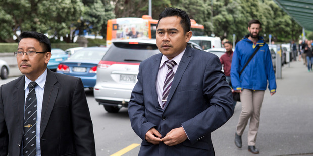 Malaysian military attache Mohammed Rizalman arriving at the High Court in Wellington.