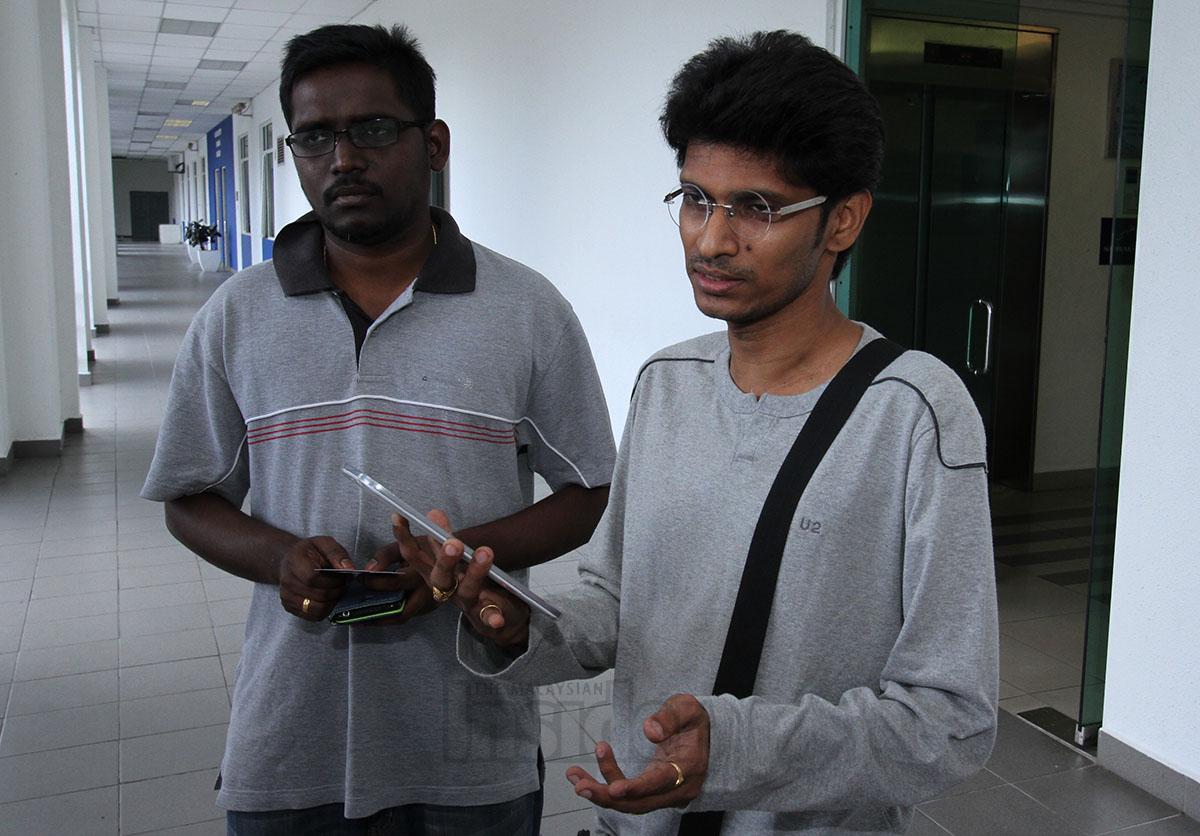 Perzeus James (left) and Uthaya Sankar SB
