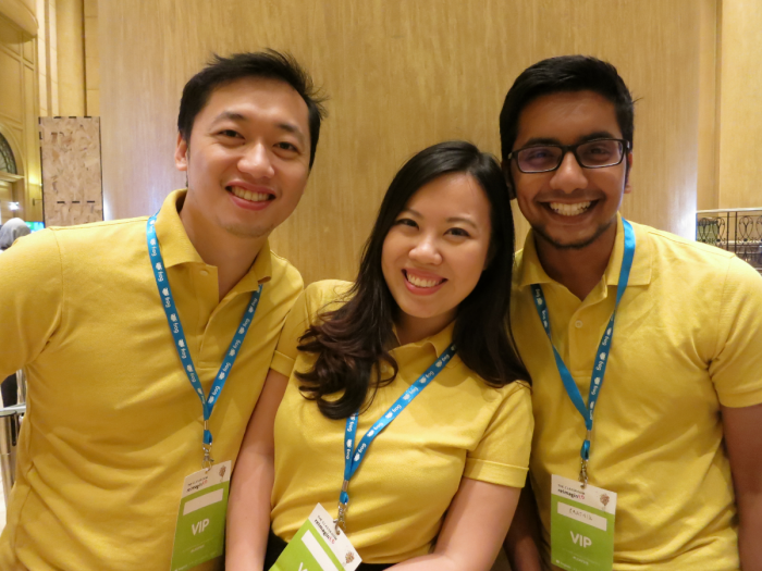 From left to right: Andrew Yong,  Amelia Tan, Karthik Karunanithy.