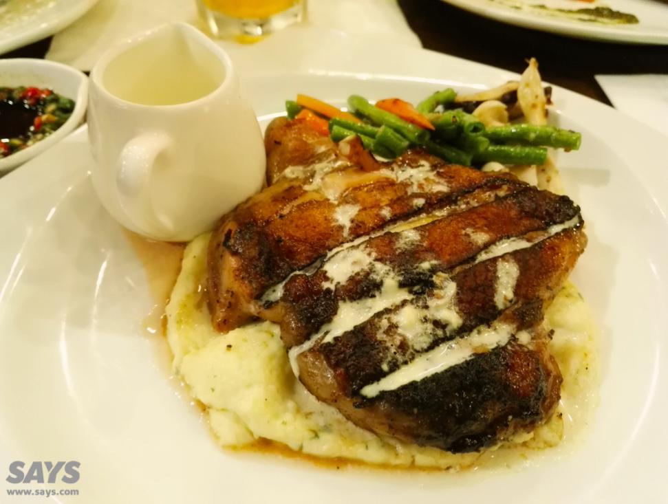 Grilled Chicken Chop.