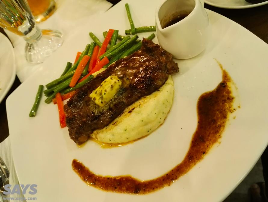 Hidangan 'bestseller' di Cafe 83, Grilled Beef Striploin.