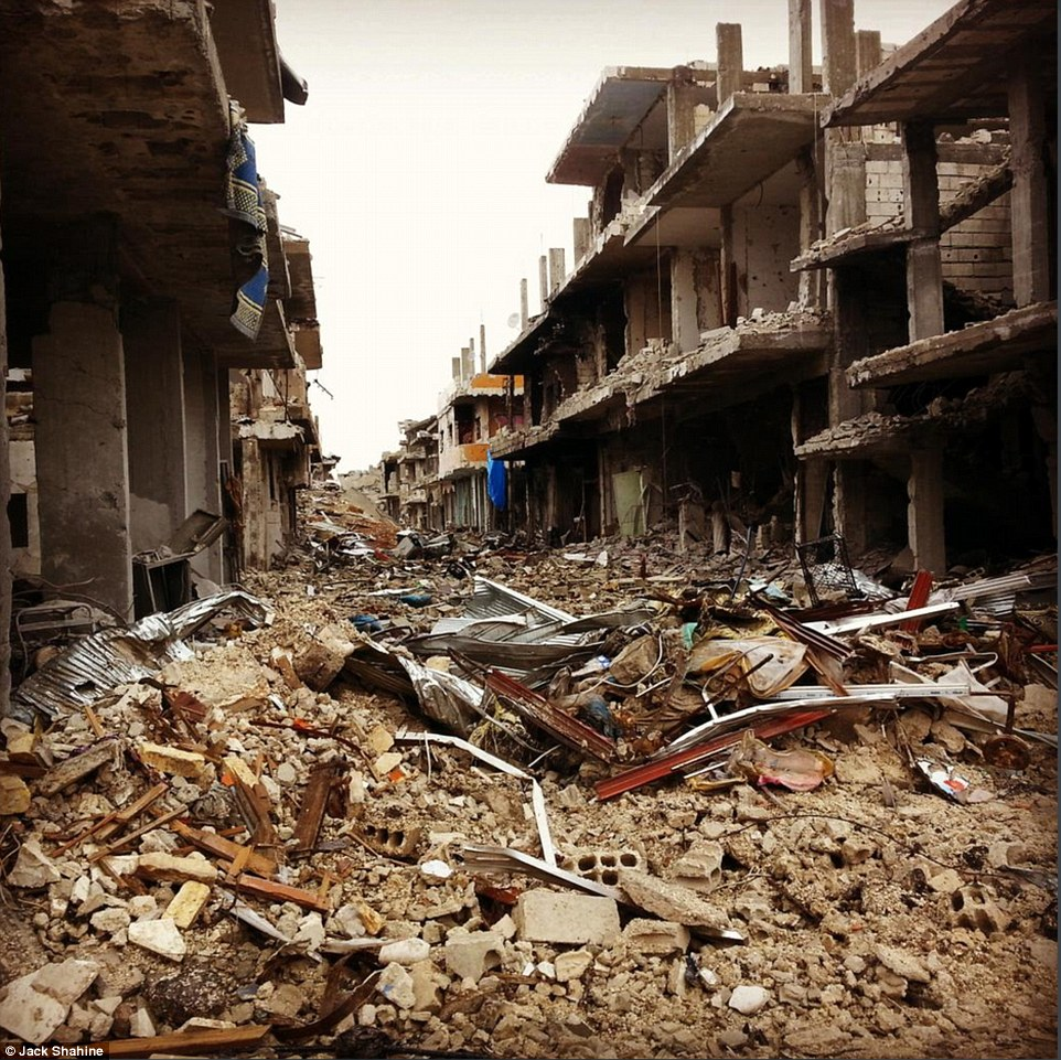 ISIS's destruction in a Syrian city