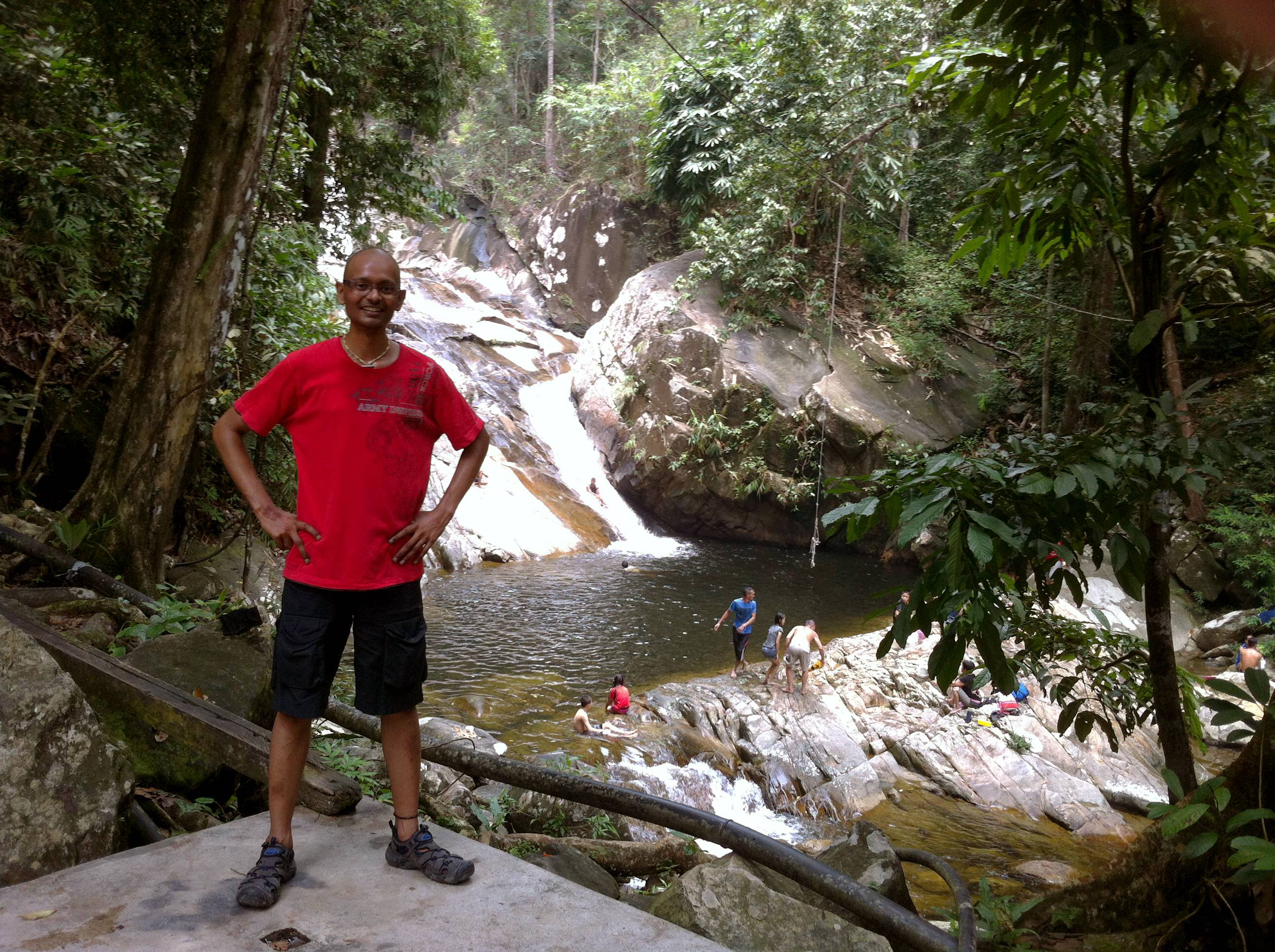 A photo of Surintan after he completed his chemotherapy treatment and started spending more time outdoors to regain his strength