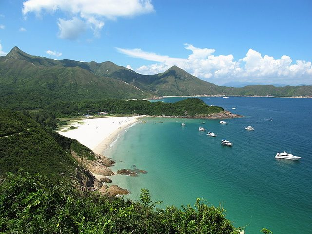 Tai Long Wan, a popular place for surfing.