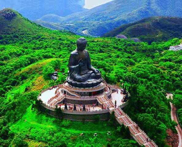 The Buddha statue on Lantau Island.