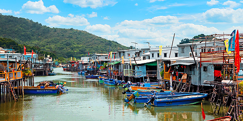 Tai O, the fishing village which is a popular spot for pink dolphin sightings.