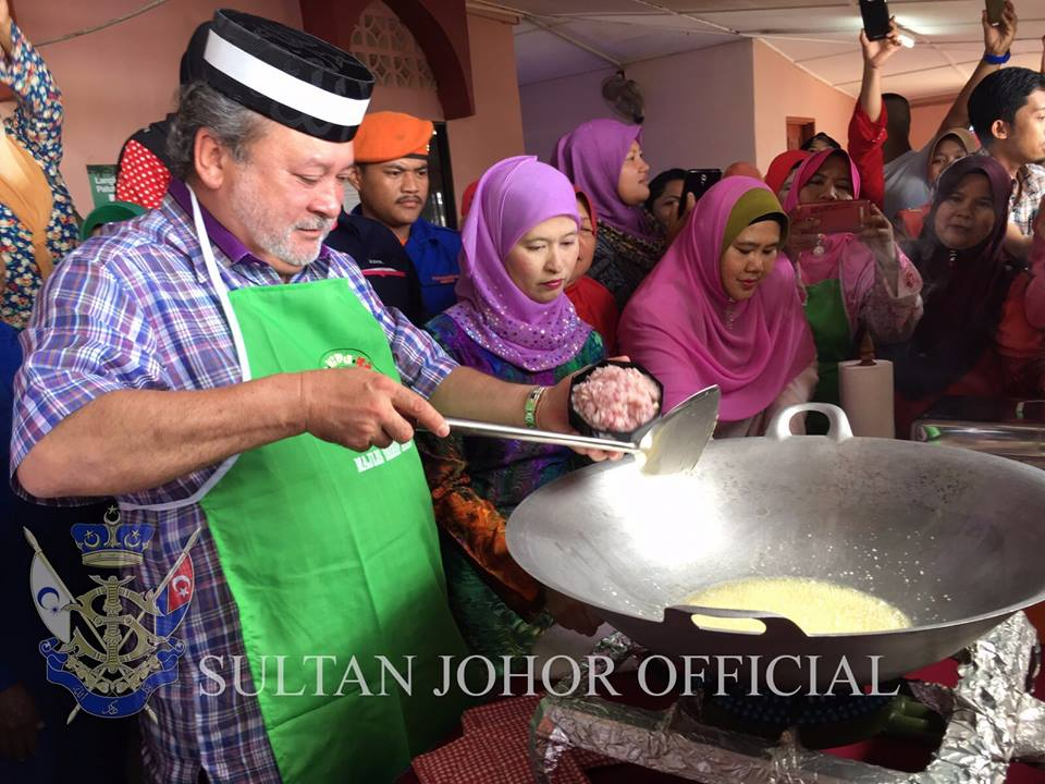 Image from Sultan Ibrahim Sultan Iskandar Official FB