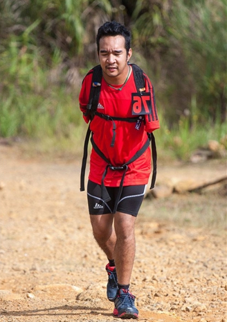 Despite his physical disabiliy, Zhariff has completed a 85km trail-running challenge.