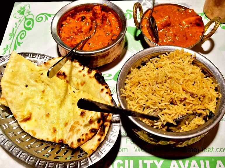 Garlic Butter Cheese Naan, Butter Chicken, Fish Masala and Mutton Briyani