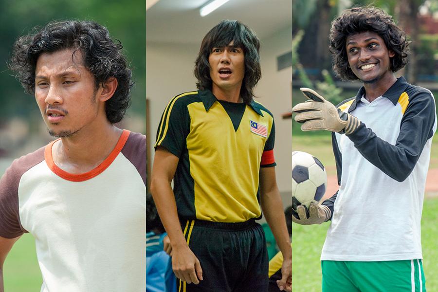 From left: Luqman Hafidz as Ali, JC Chee (Tauke), and Saran Kumar Manokaran (Muthu).