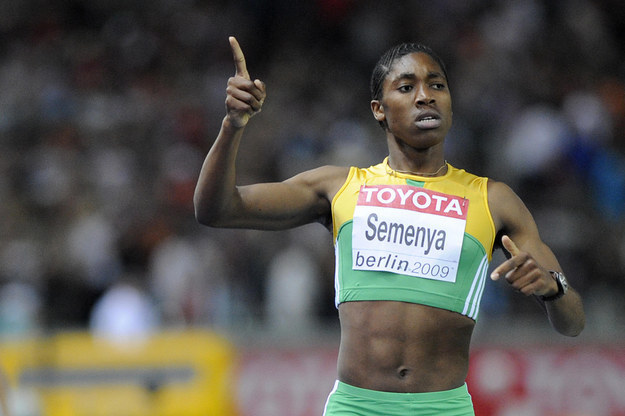 South African sprinter Caster Semenya was subjected to a 'gender test in 2009