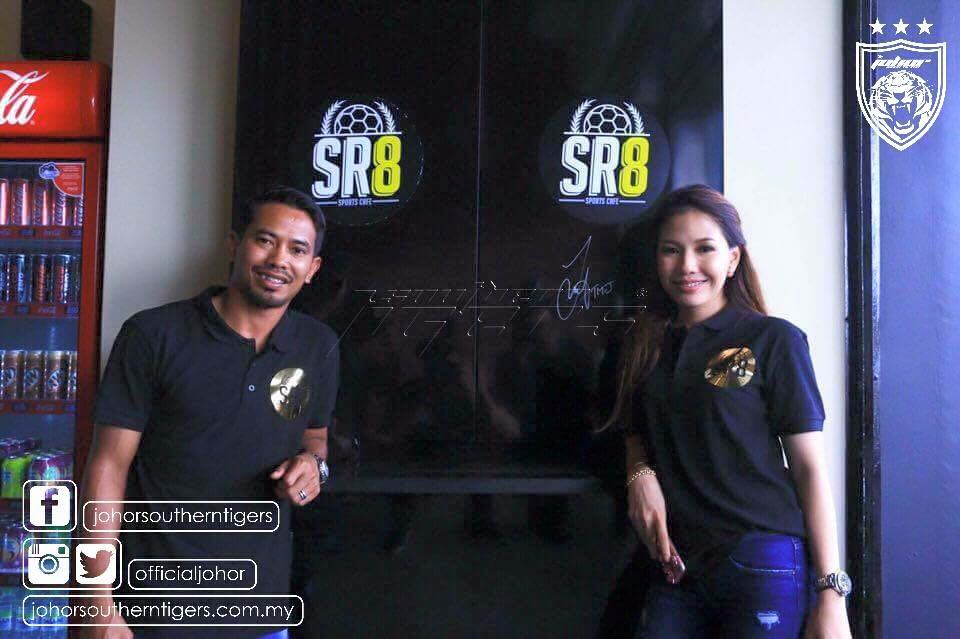 JDT's caption Mohd Safiq Rahim and his wife