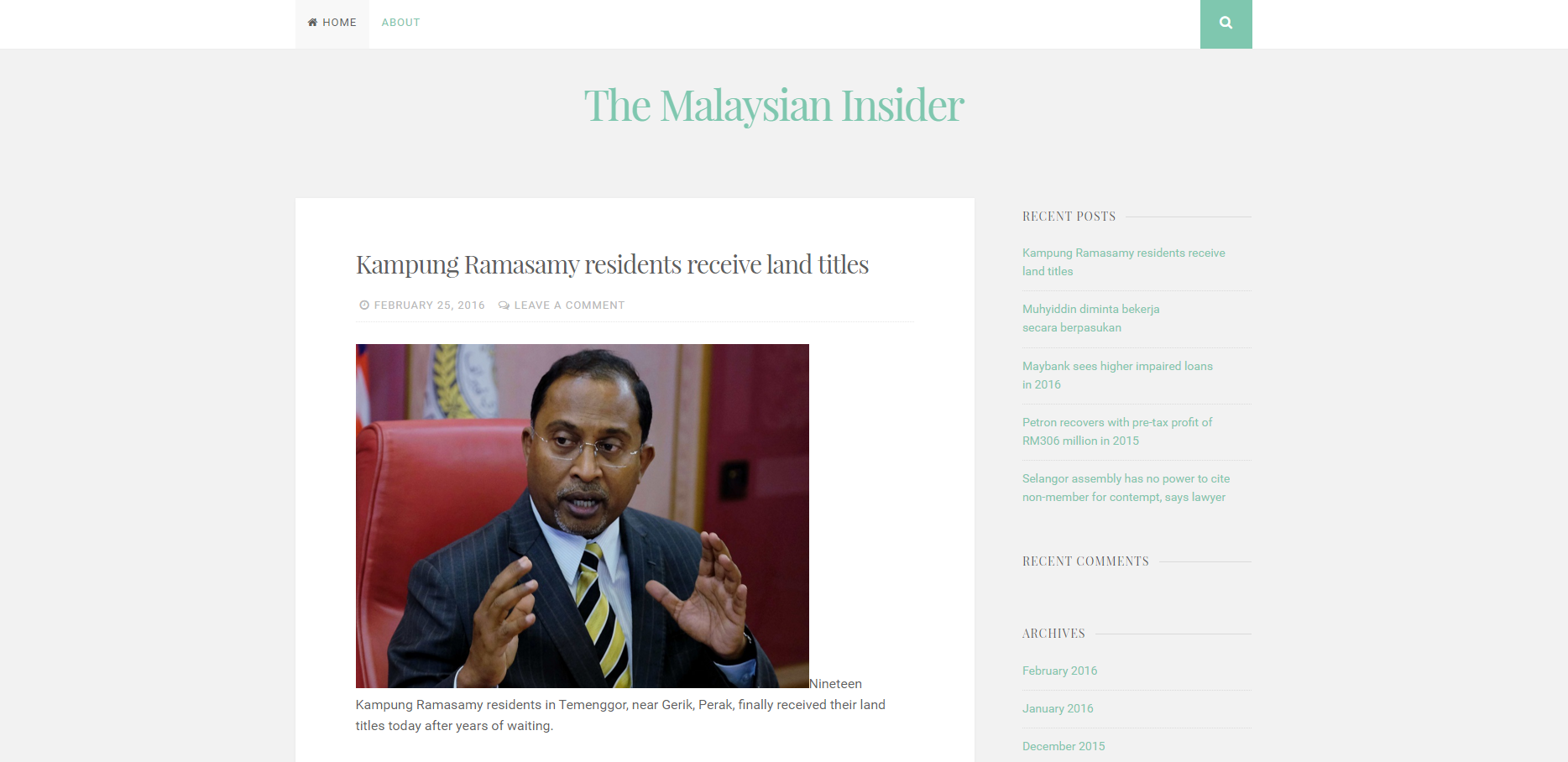 The Malaysian Insider Is Now The Malaysian Outsider