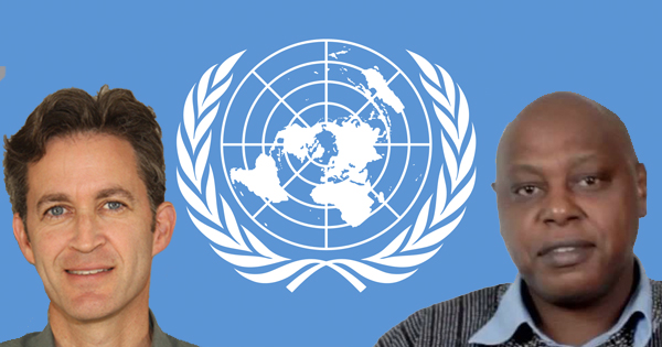 UN Special Rapporteurs of Freedom of Expression, David Kaye (left) and Freedom of Peaceful Assembly and Association, Maina Kiai.