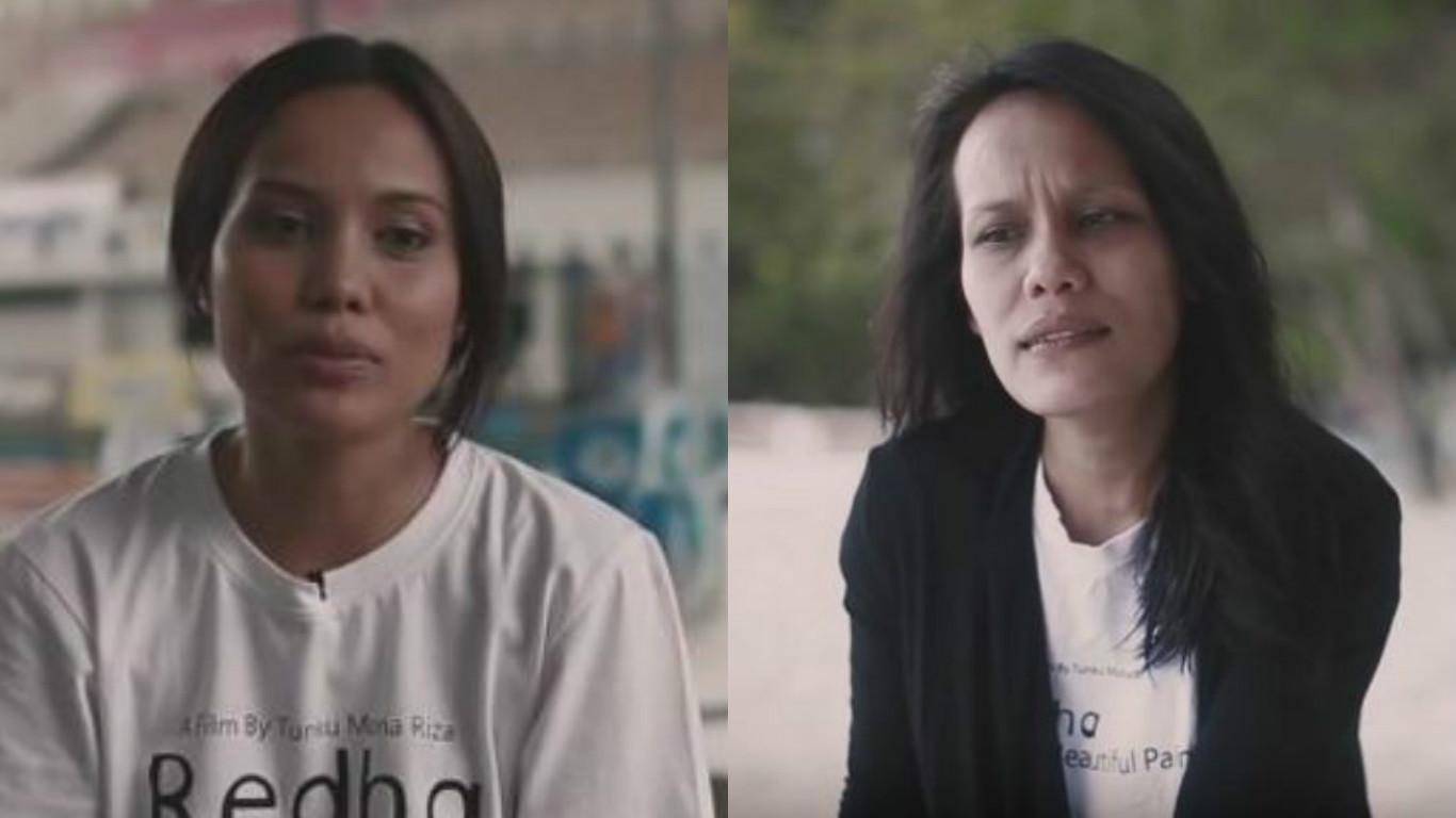 Nadia Nisa(kiri) dan June(kanan)