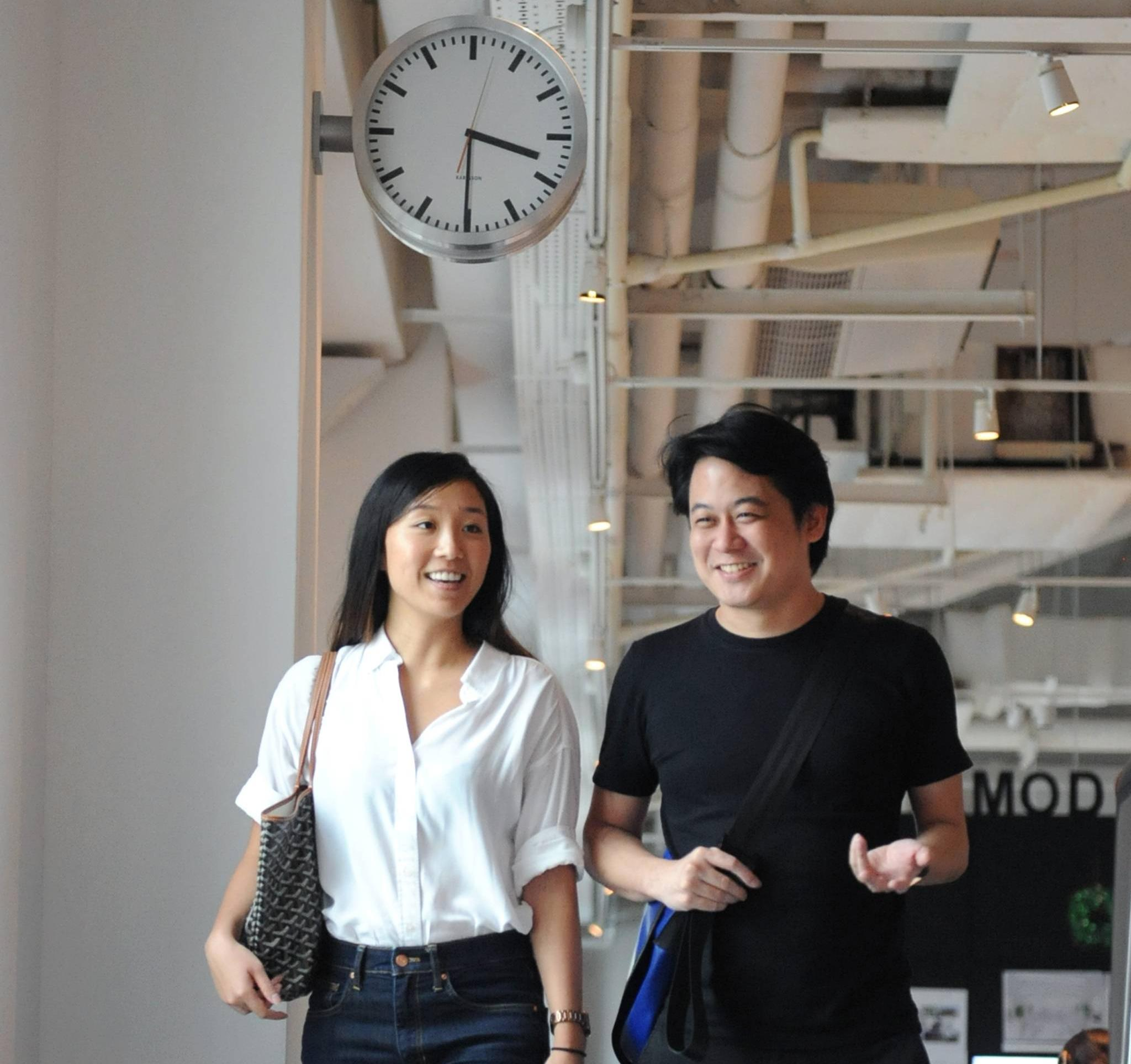 Architectural designers Angie Ng and Darren Yio.