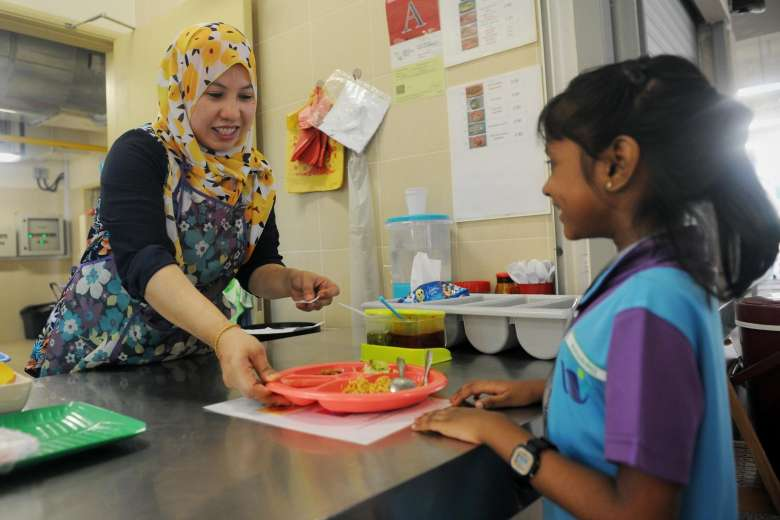 West Spring Primary School's canteen offers students a healthy meal programme called Whizmeal, Singapore.