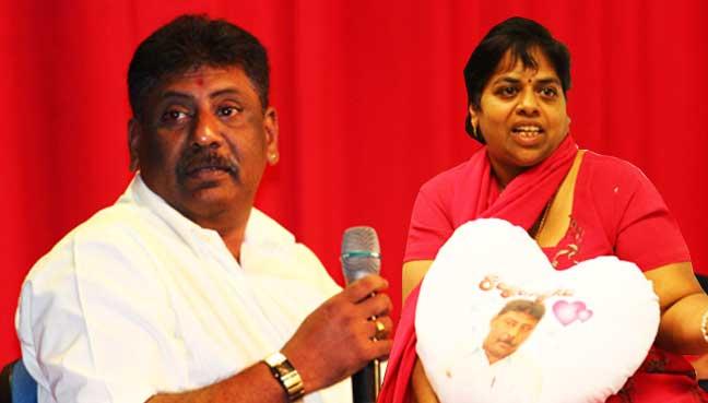 The late private investigator  P. Balasubramaniam (left).