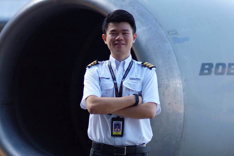 Ee has been an aircraft engineer for five and a half years.