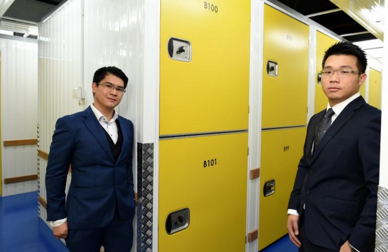Desmond How (L) and Alex Lee (R) of Flexi Storage.