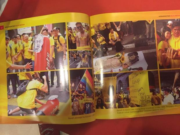 Pictures from Bersih 4 rally in the Kebangkitan Baju Merah book.