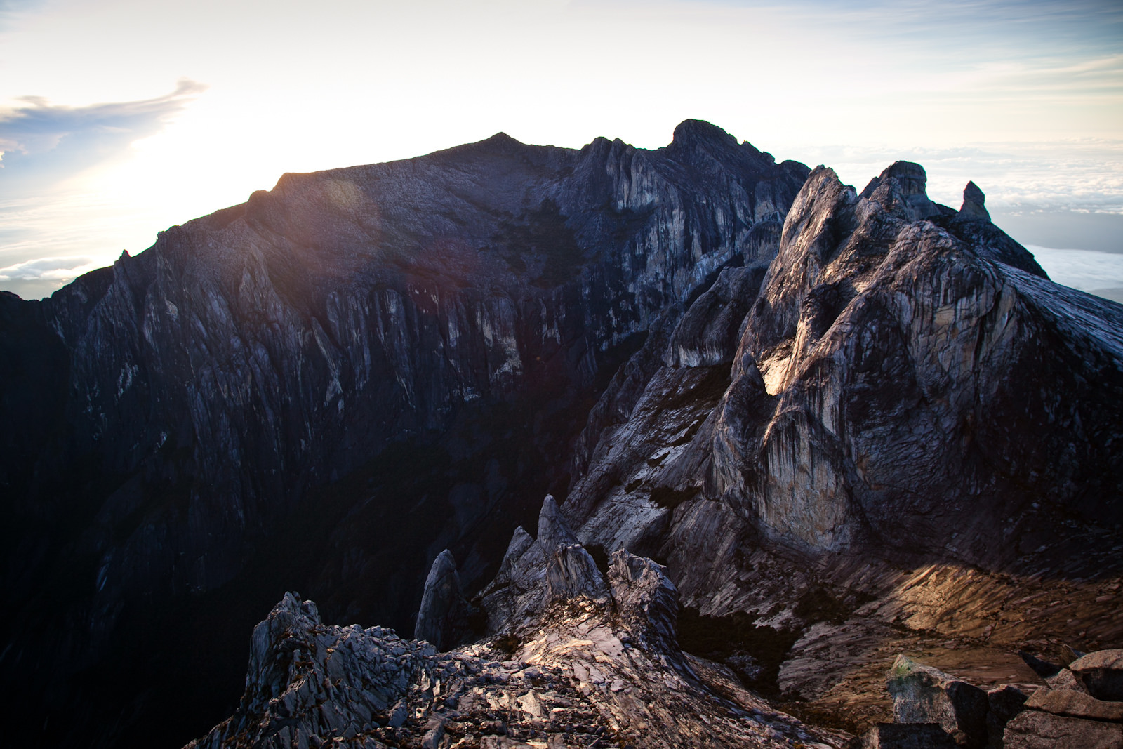 The peak of Mount Kinabalu