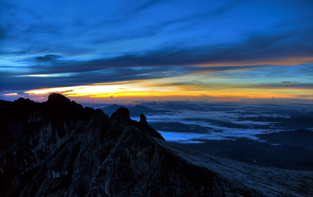 'Low's Peak, the summit of Mount Kinabalu. 4095m above sea level'