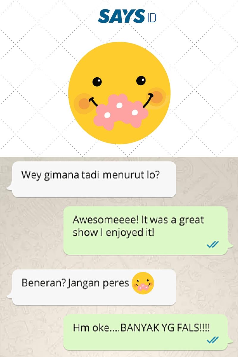 'chatting' sesama orang indonesia pasti lebih asik dengan