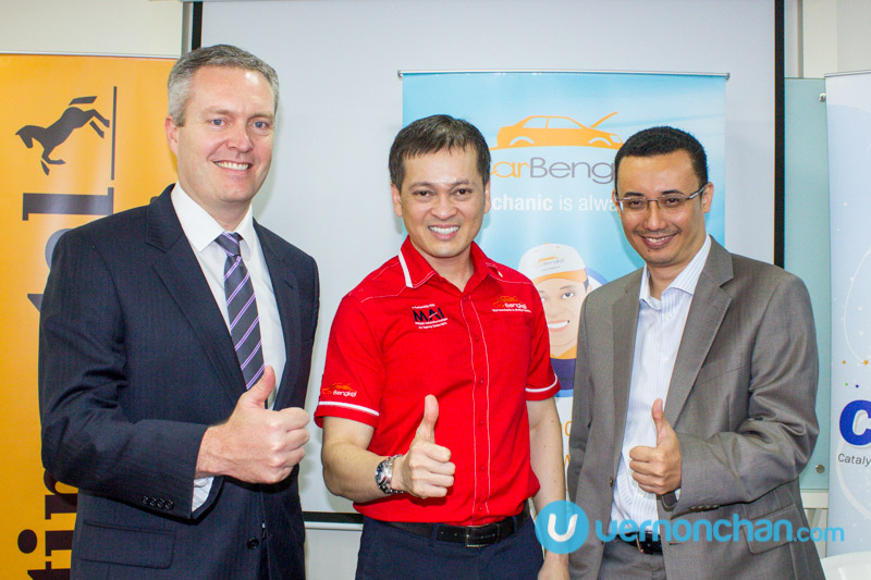 Baniaz with Continental's Cameron Wilson (L).