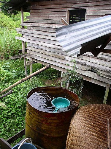 Most people in rural villages survive by collecting rainwater and they most often do not have running water supply