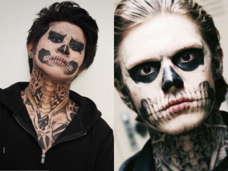 LEFT: Seng Hoo RIGHT: Tate from American Horror Story