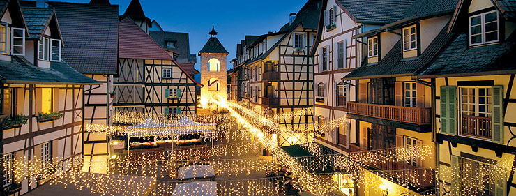 Colmar Tropicale is inspired by the original town of Colmar in Alsace, France.