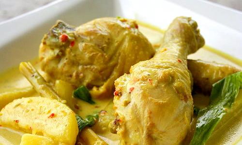 Masak lemak cili padi with chicken.