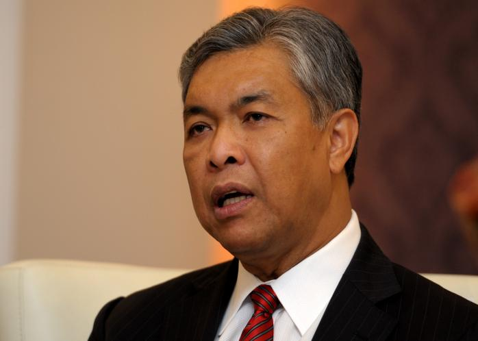 Home Minister Datuk Seri Dr Ahmad Zahid Hamidi