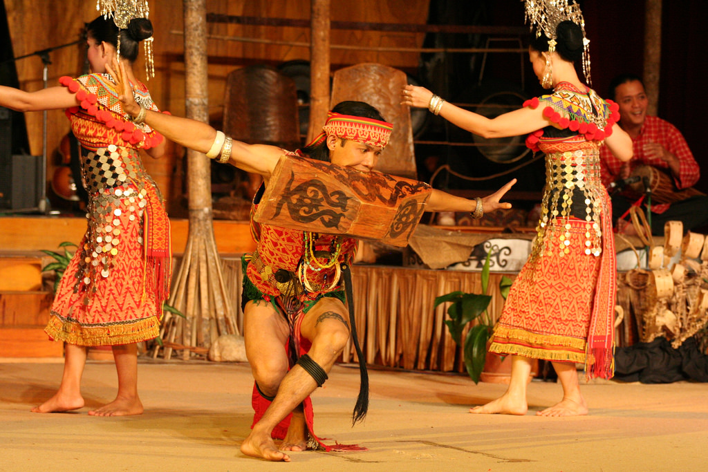 The traditional dance of Sarawak's Iban community