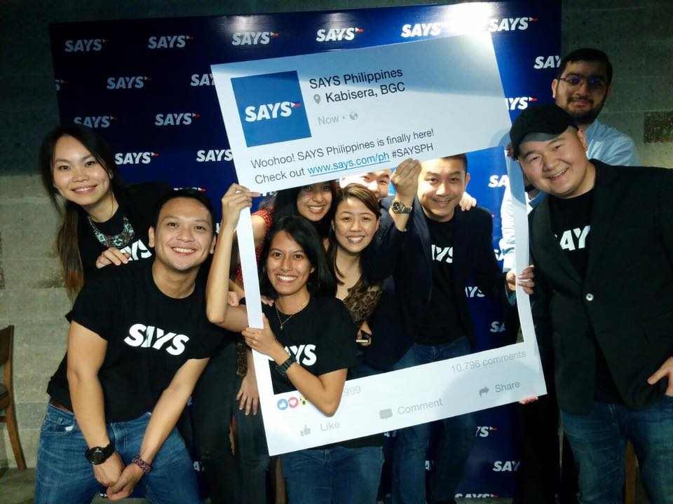 The REV Asia and SAYS Philippines team at its launch at Kabisera, BGC on 20 April 2016.